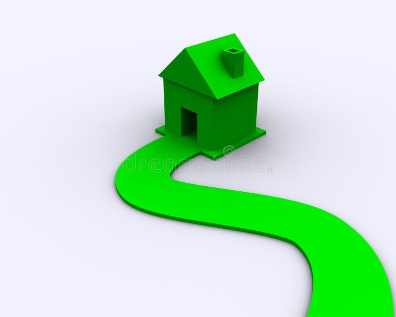 Concepto de la casa de Eco - energía verde ilustración del vector
