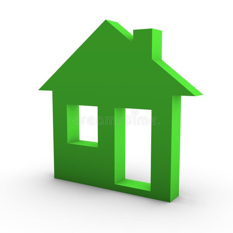 Concepto de la casa de vivienda ilustración del vector