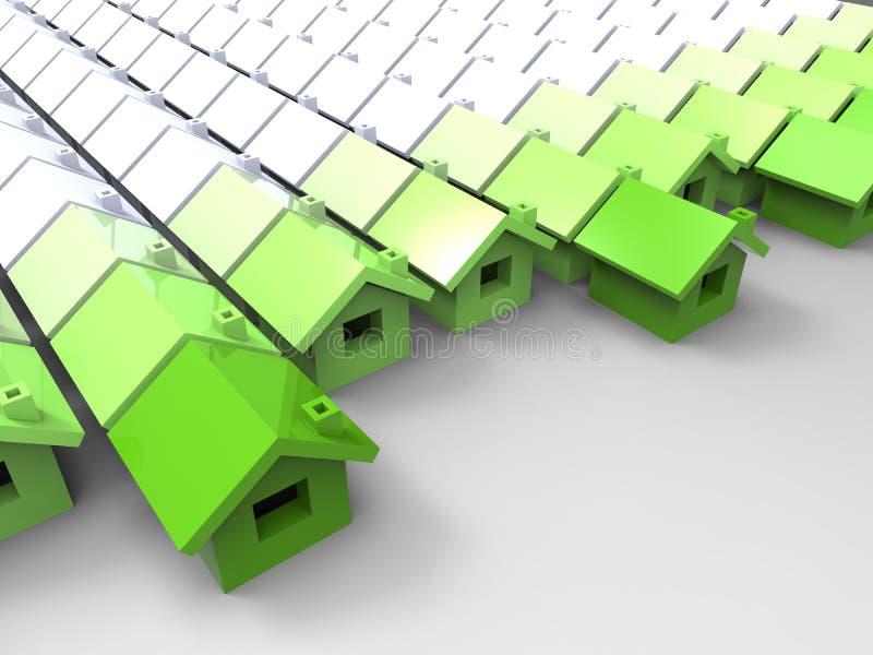 Concepto de la casa verde ilustración del vector