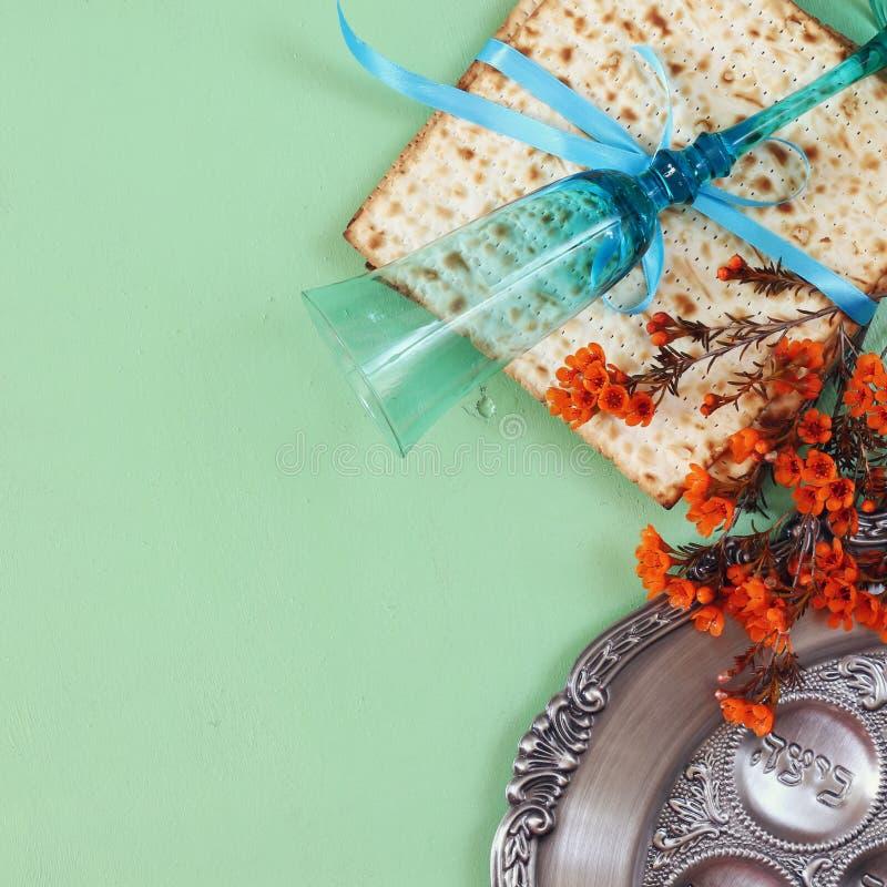 Concepto de la celebración de Pesah (día de fiesta judío de la pascua judía) fotos de archivo libres de regalías