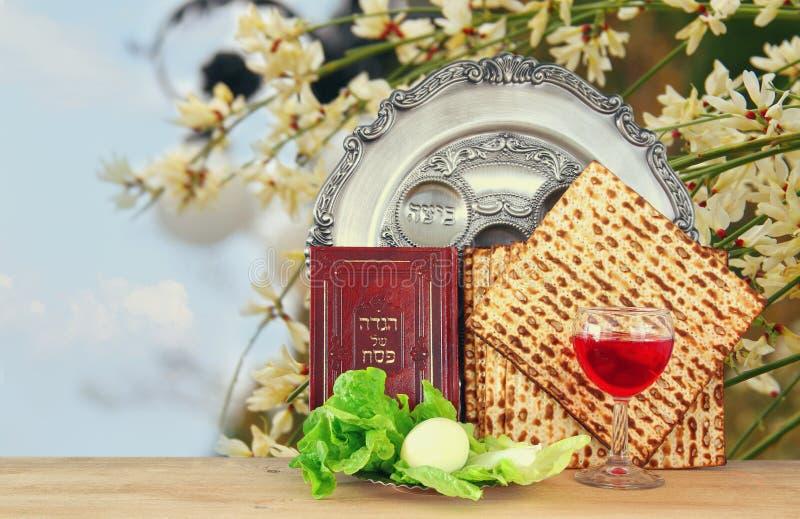 Concepto de la celebración de Pesah y x28; holiday& judío x29 de la pascua judía; fotos de archivo libres de regalías