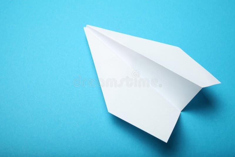 Concepto de la charla del negocio, aeroplano del Libro Blanco imagen de archivo libre de regalías