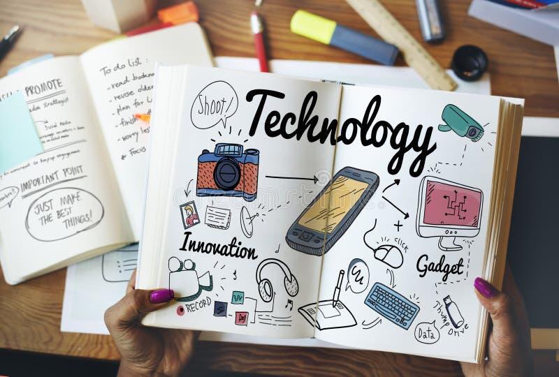 Concepto de la ciencia de Internet de la innovación de Digitaces de la tecnología foto de archivo libre de regalías