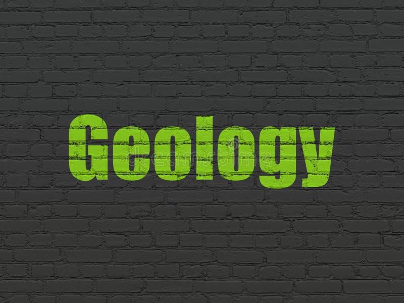Concepto de la ciencia: Geología en fondo de la pared ilustración del vector