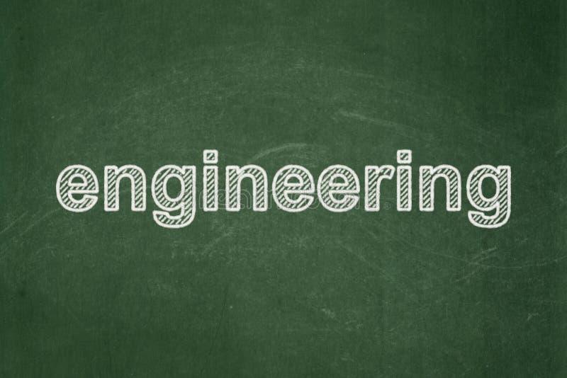 Concepto de la ciencia: Ingeniería en fondo de la pizarra stock de ilustración