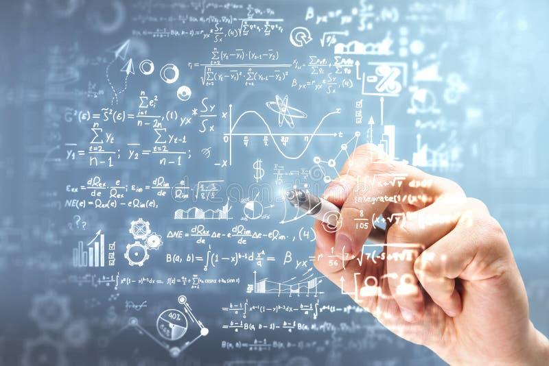 Concepto de la ciencia y de la álgebra foto de archivo libre de regalías