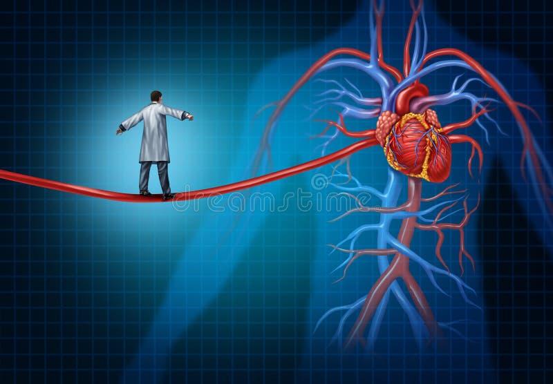 Concepto de la cirugía de corazón ilustración del vector