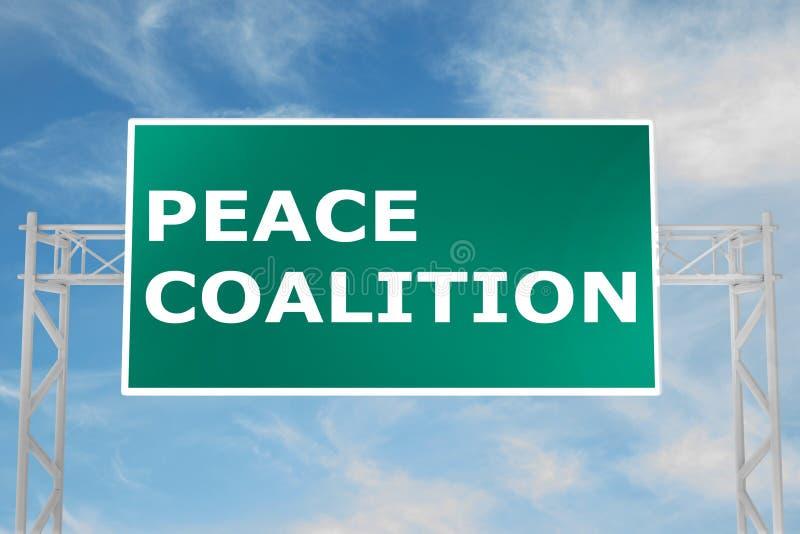 Concepto de la coalición de la paz ilustración del vector