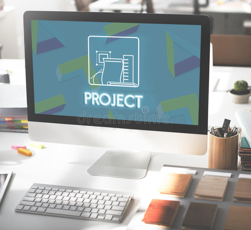 Concepto de la colaboración de la estrategia de gestión del proyecto fotografía de archivo libre de regalías