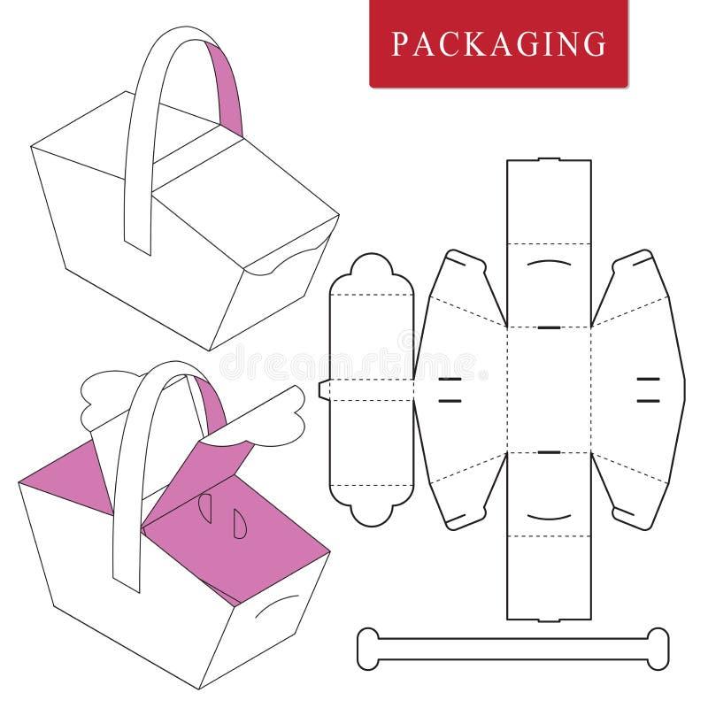 Concepto de la comida campestre de la plantilla del paquete ilustración del vector