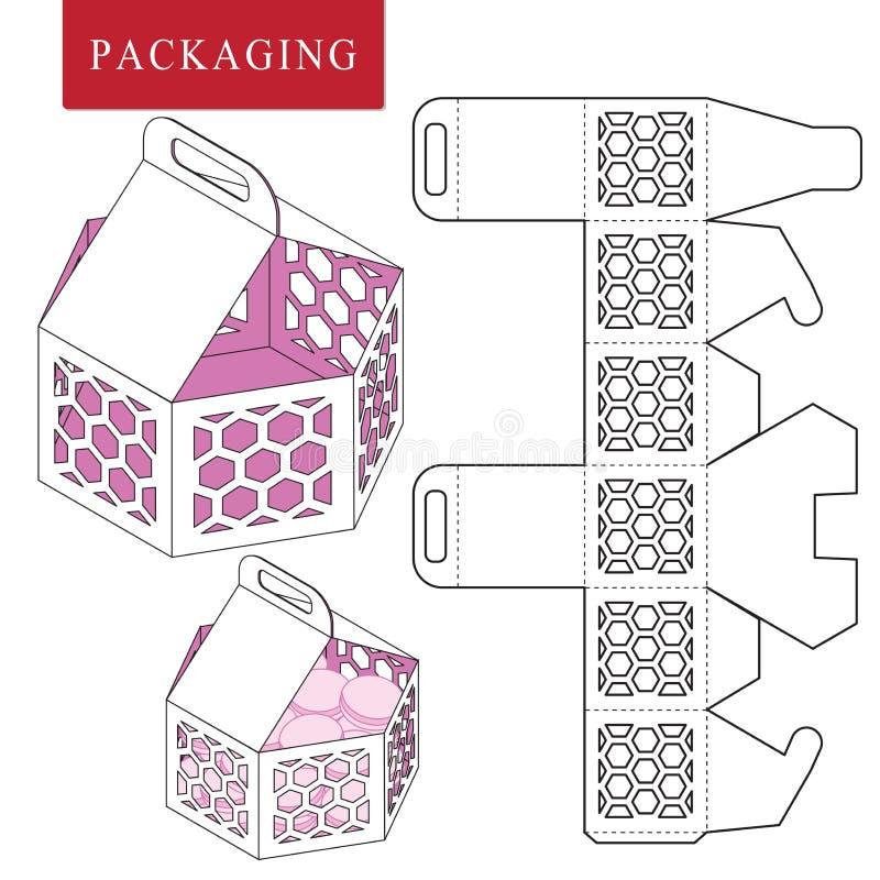 Concepto de la comida campestre de la plantilla del paquete libre illustration