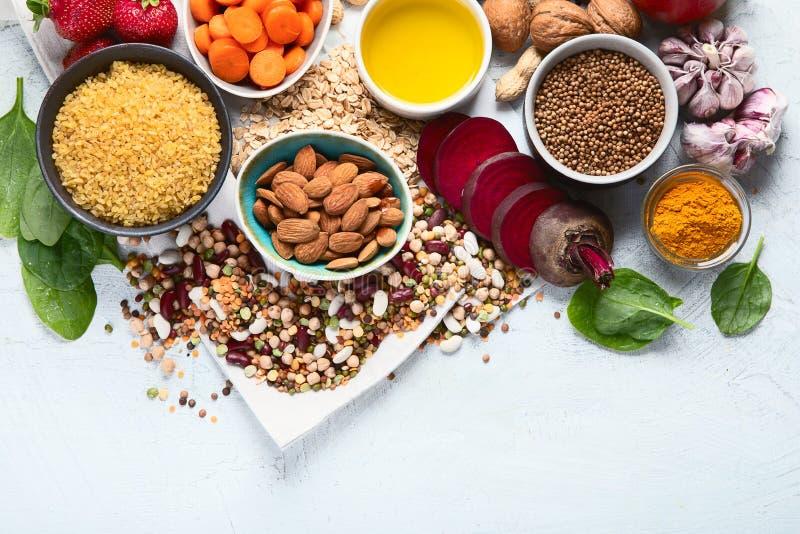 Concepto de la comida de la dieta del detox del hígado Comidas para el h?gado sano imagen de archivo