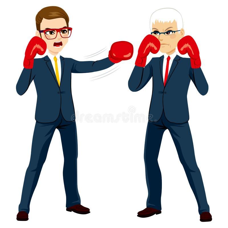 Concepto de la competencia de los hombres de negocios stock de ilustración
