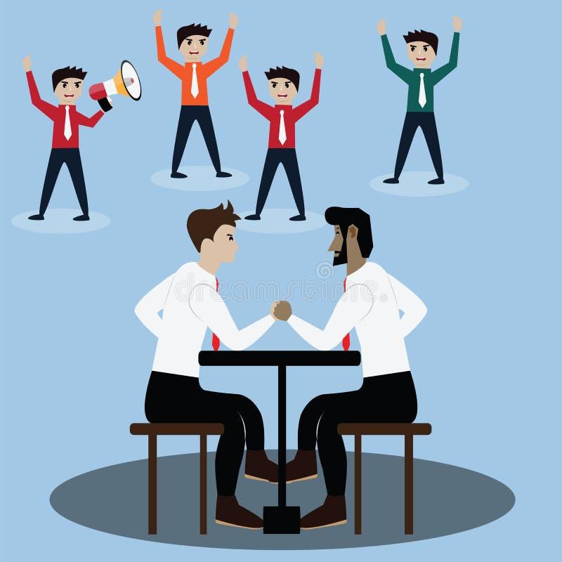 Concepto de la competencia del negocio, pulso - vector ilustración del vector