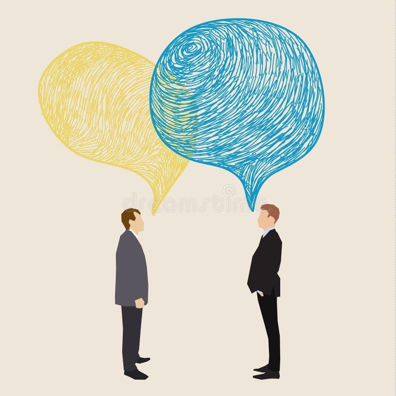 Concepto de la comunicación libre illustration