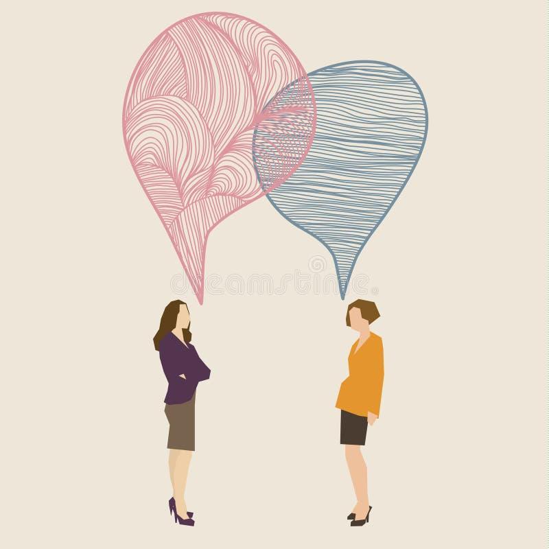 Concepto de la comunicación stock de ilustración