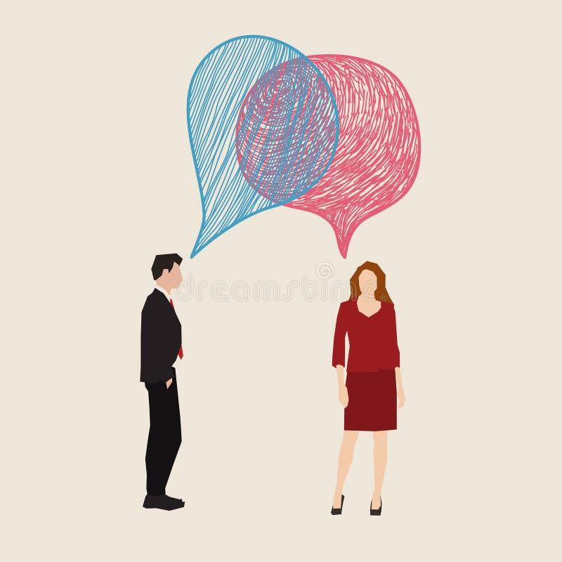 Concepto de la comunicación ilustración del vector