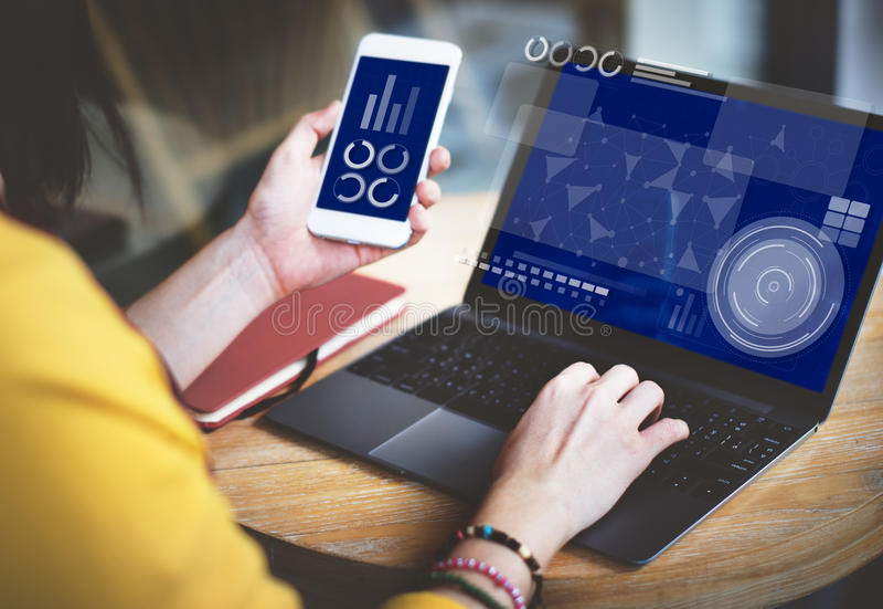 Concepto de la comunicación de Internet de la innovación de la conexión de la tecnología fotos de archivo