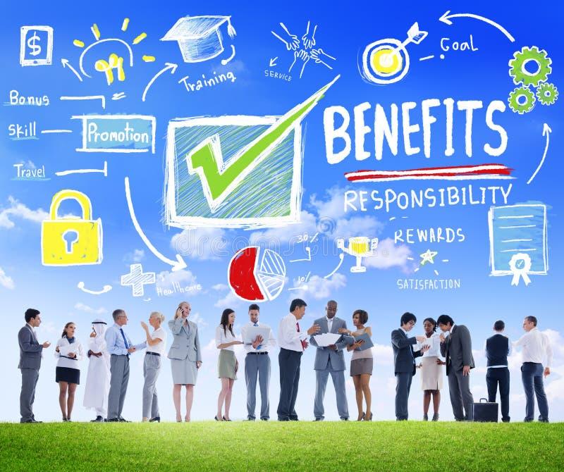 Concepto de la comunicación de la renta de la ganancia del beneficio del aumento de las ventajas imagen de archivo libre de regalías