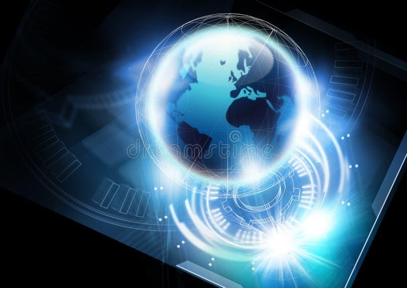 Concepto de la comunicación global ilustración del vector