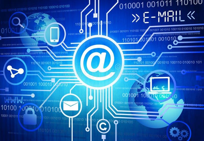 Concepto de la comunicación global con símbolos de dispositivos electrónicos libre illustration