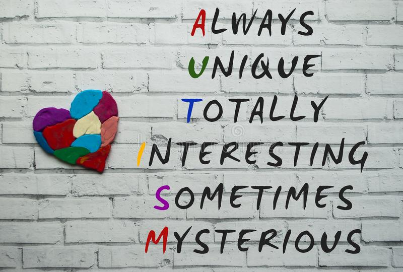 Concepto de la conciencia del autismo imagen de archivo libre de regalías