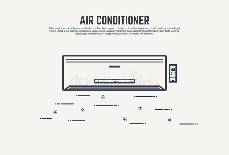 Concepto de la condición del aire libre illustration