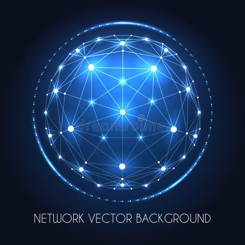 Concepto de la conexión de la esfera de la red del globo stock de ilustración
