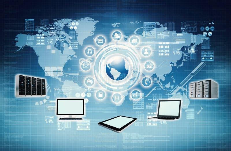 Concepto de la conexión a internet stock de ilustración