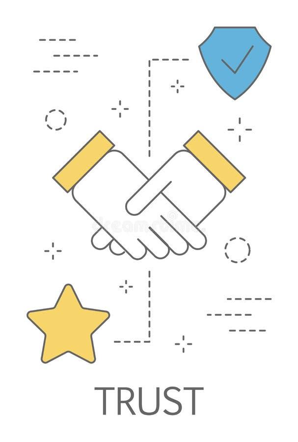 Concepto de la confianza Apretón de manos como símbolo de la lealtad ilustración del vector