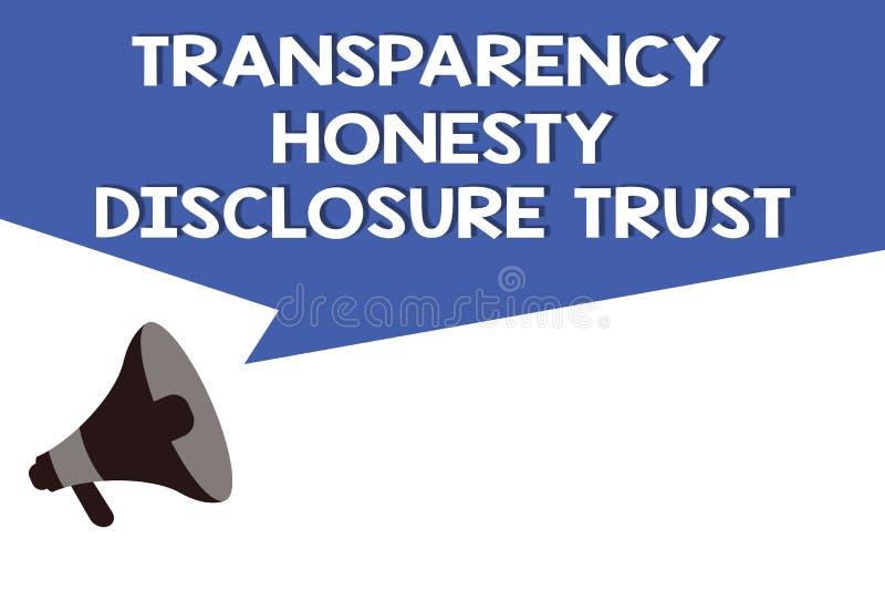 Concepto de la confianza del acceso de la honradez de la transparencia de texto de la escritura que significa voluntad corporativ libre illustration