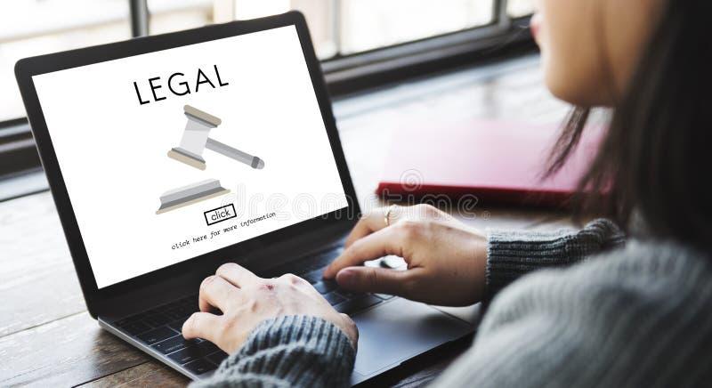 Concepto de la conformidad de Legal Advice Law del abogado foto de archivo libre de regalías