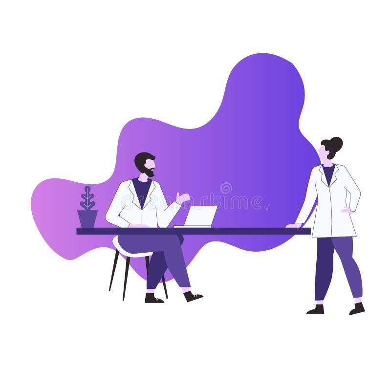 Concepto de la consulta m?dica ilustración del vector
