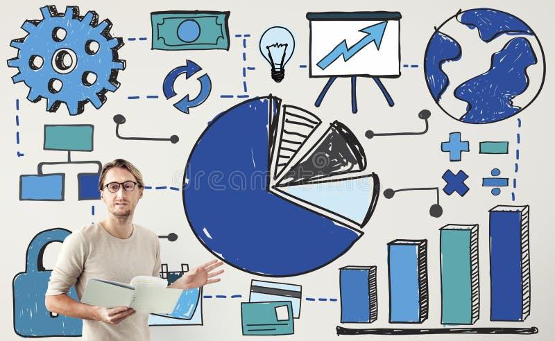 Concepto de la contabilidad financiera del análisis de la carta libre illustration