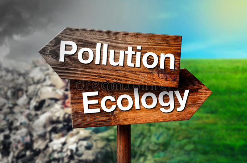 Concepto de la contaminación o de la ecología foto de archivo libre de regalías