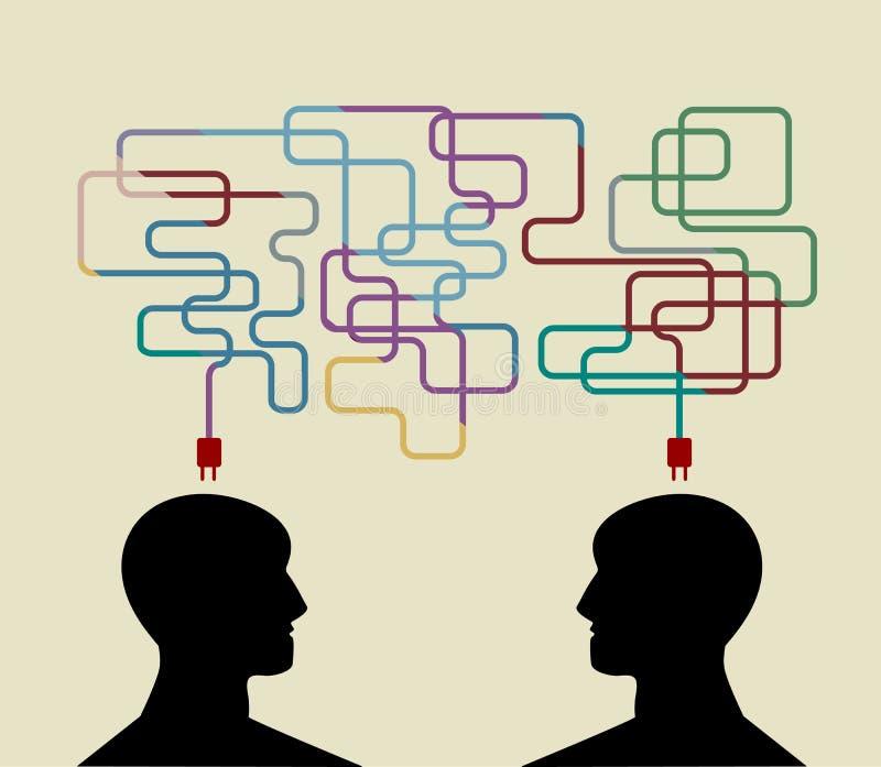 Concepto de la cooperación stock de ilustración