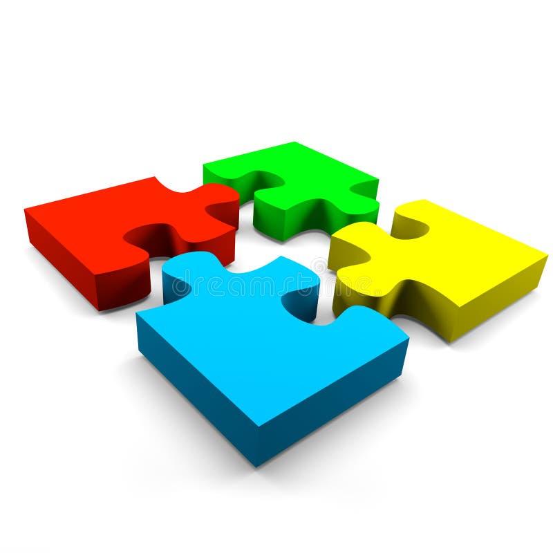 Concepto de la cooperación del rompecabezas libre illustration