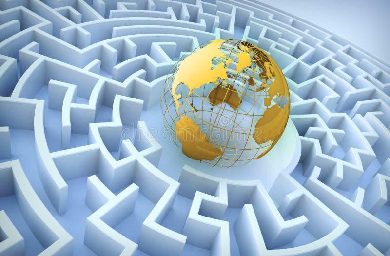 Concepto de la cooperación internacional. libre illustration