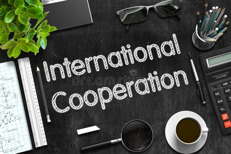 Concepto de la cooperación internacional 3d rinden fotografía de archivo