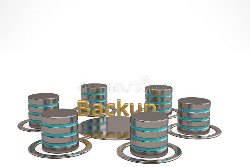 Concepto de la copia de seguridad de la base de datos de red ilustración 3D libre illustration
