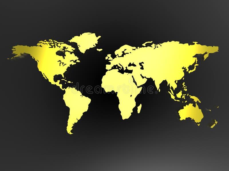 concepto de la correspondencia de mundo 3D stock de ilustración