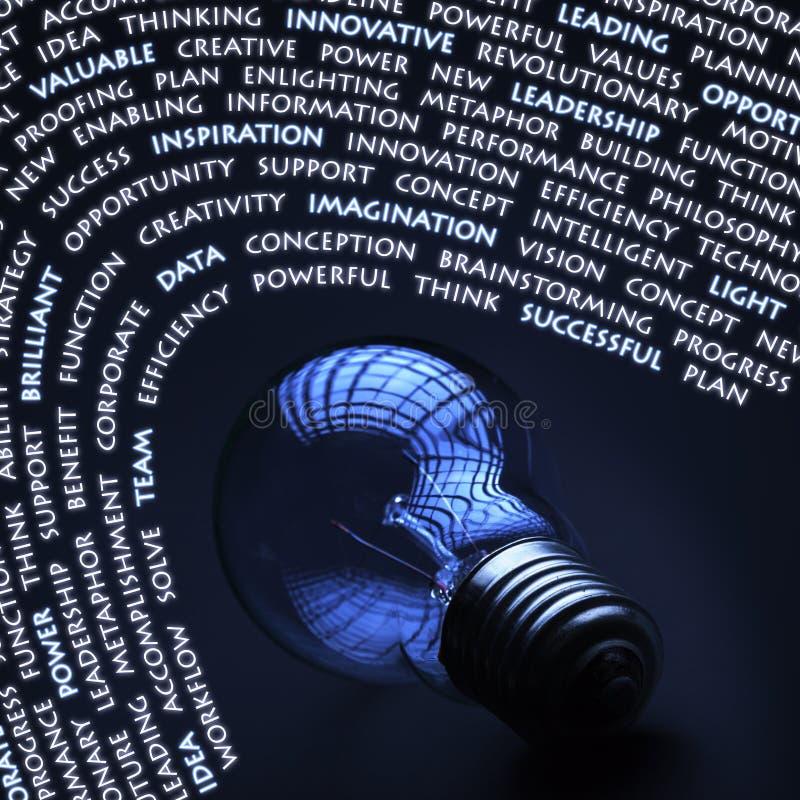 Concepto de la creatividad con la bombilla incandescente ilustración del vector