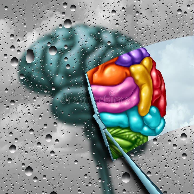 Concepto de la creatividad del cerebro ilustración del vector
