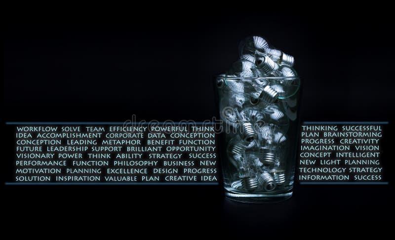 Concepto de la creatividad y de la reunión de reflexión imagen de archivo libre de regalías