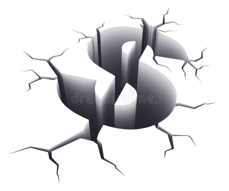 Concepto de la crisis financiera ilustración del vector