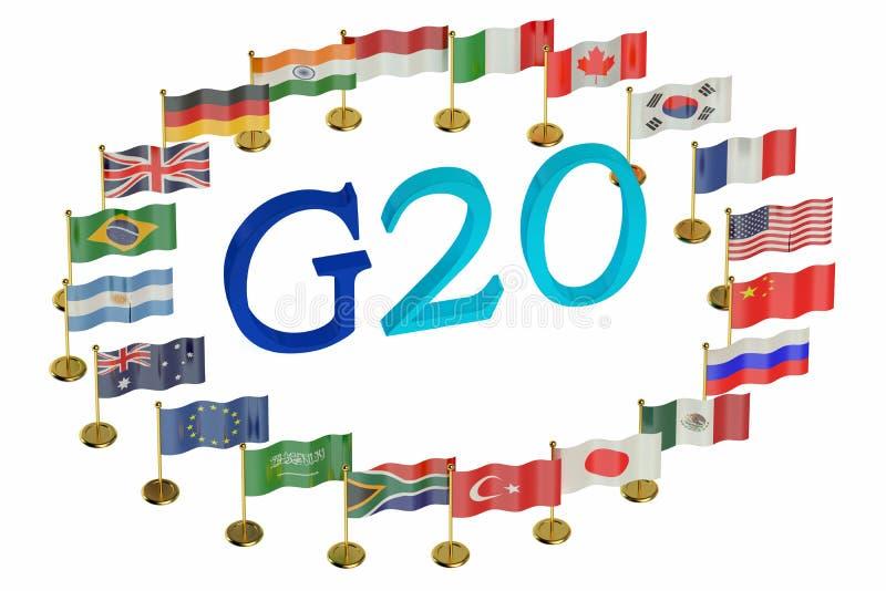 Concepto de la cumbre G20 stock de ilustración
