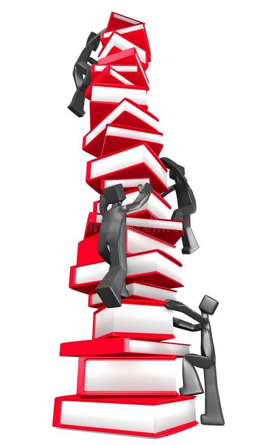 Concepto de la curva de aprendizaje stock de ilustración