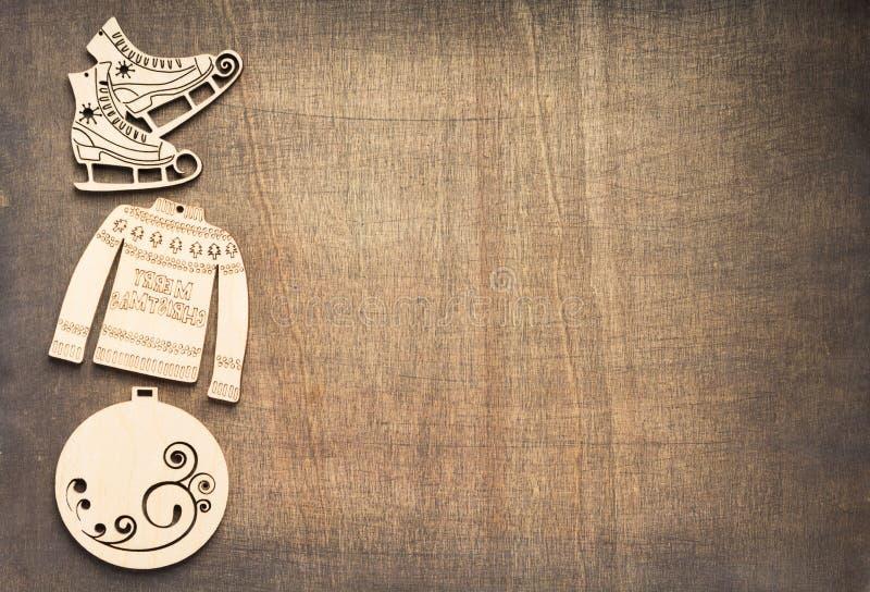 Concepto de la decoración de la Navidad con los juguetes fotografía de archivo libre de regalías