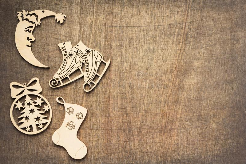 Concepto de la decoración de la Navidad con los juguetes fotos de archivo libres de regalías
