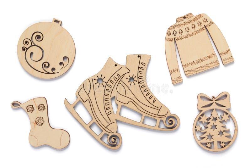 Concepto de la decoración de la Navidad con los juguetes foto de archivo